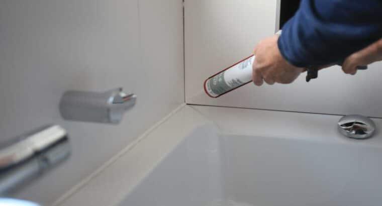 kitten afdichting voegen badkamers keukens wc bedrijven kantoren ..