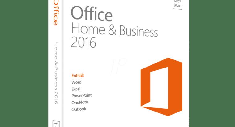 Office 2016, 2019, 365 voor MAC en andere software